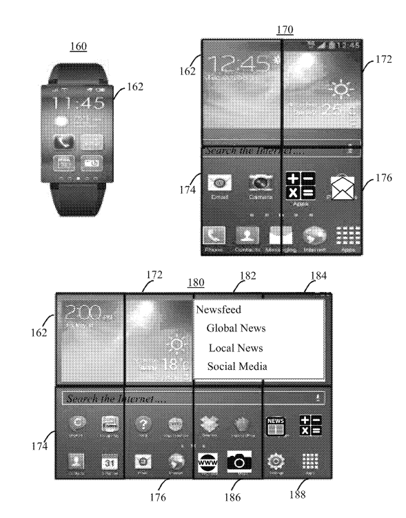 Patente del smartwatch plegable de IBM