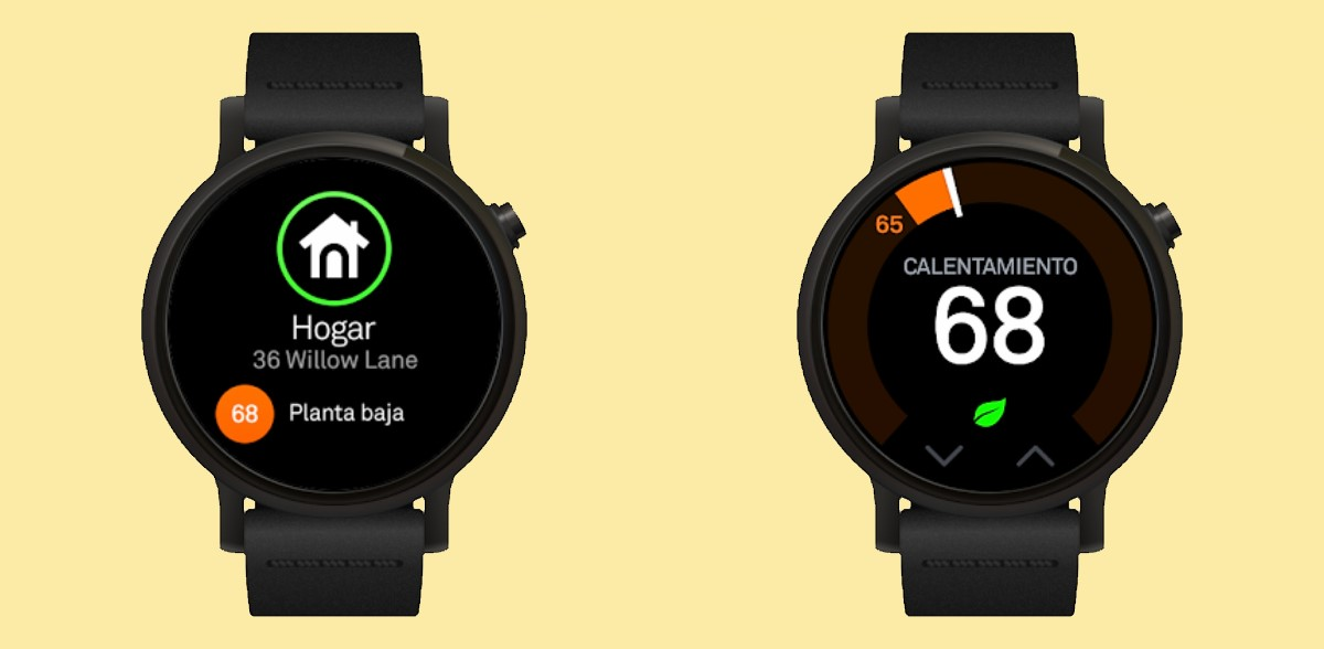 Nest en smartwatches Wear OS
