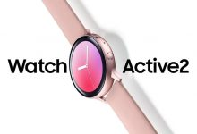 Render oficial del Samsung Galaxy Watch Active 2