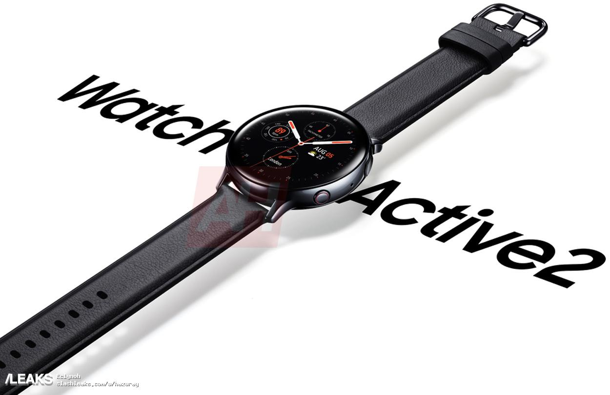 Render oficial del Galaxy Watch Active 2 filtrado