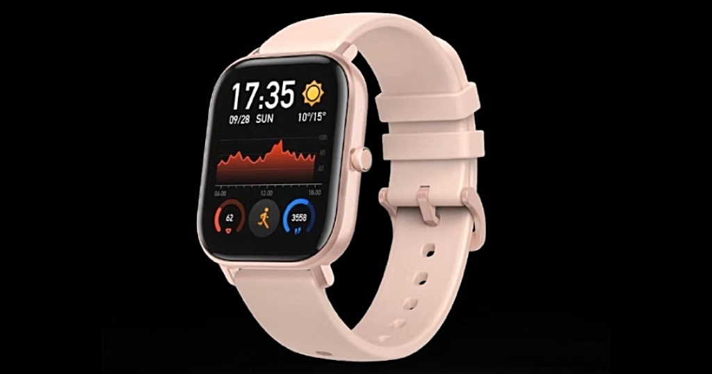 Render del smartwatch de Huami con aspecto parecido al del Apple Watch