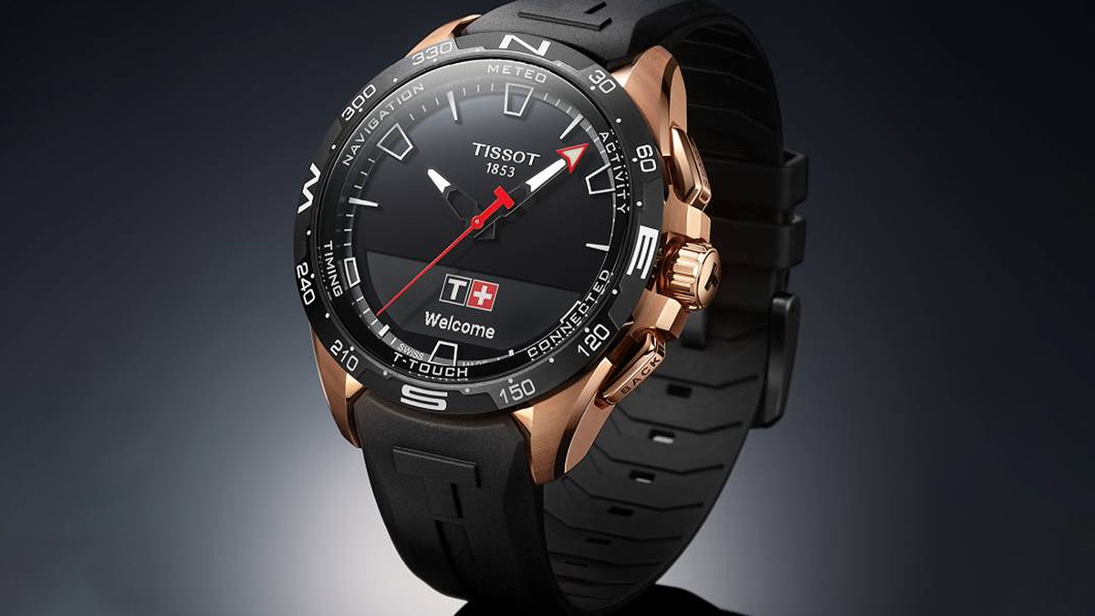Smartwatch híbrido Tissot T-Touch Connect Solar