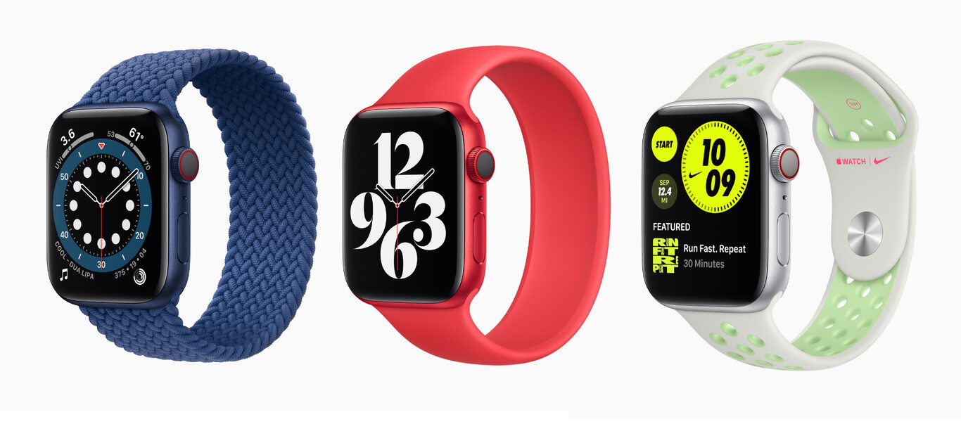 Apple Watch Series 6 con distintas correas